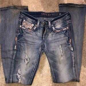 Grace in LA ripped/frayed jeans